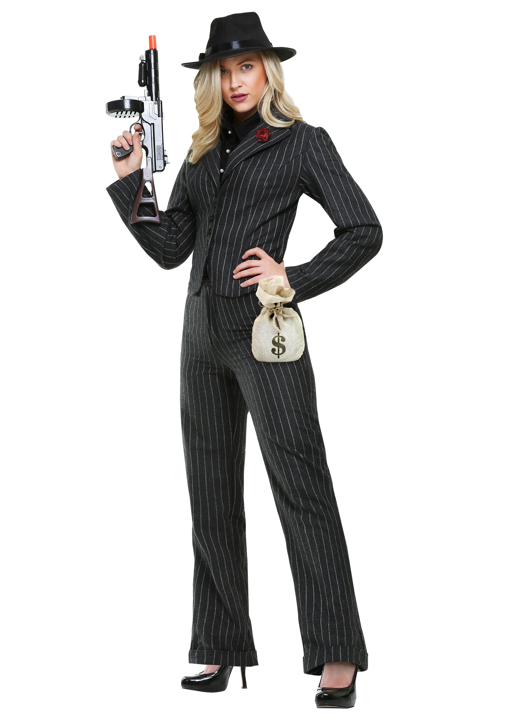 Female Gangster Costume  sc 1 st  Halloween Costumes & Gangster Costumes - Adult Kids 1920u0027s Halloween Gangster Costume