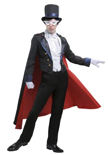Click Here to buy Sailor Moon Tuxedo Mask Mens Costume from HalloweenCostumes, CDN Funds