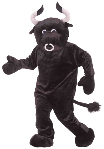 Click Here to buy Mascot Bull Costume from HalloweenCostumes, USA Funds & Shipping