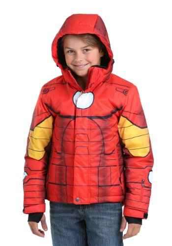Image  Kids Iron Man Snow Jacket