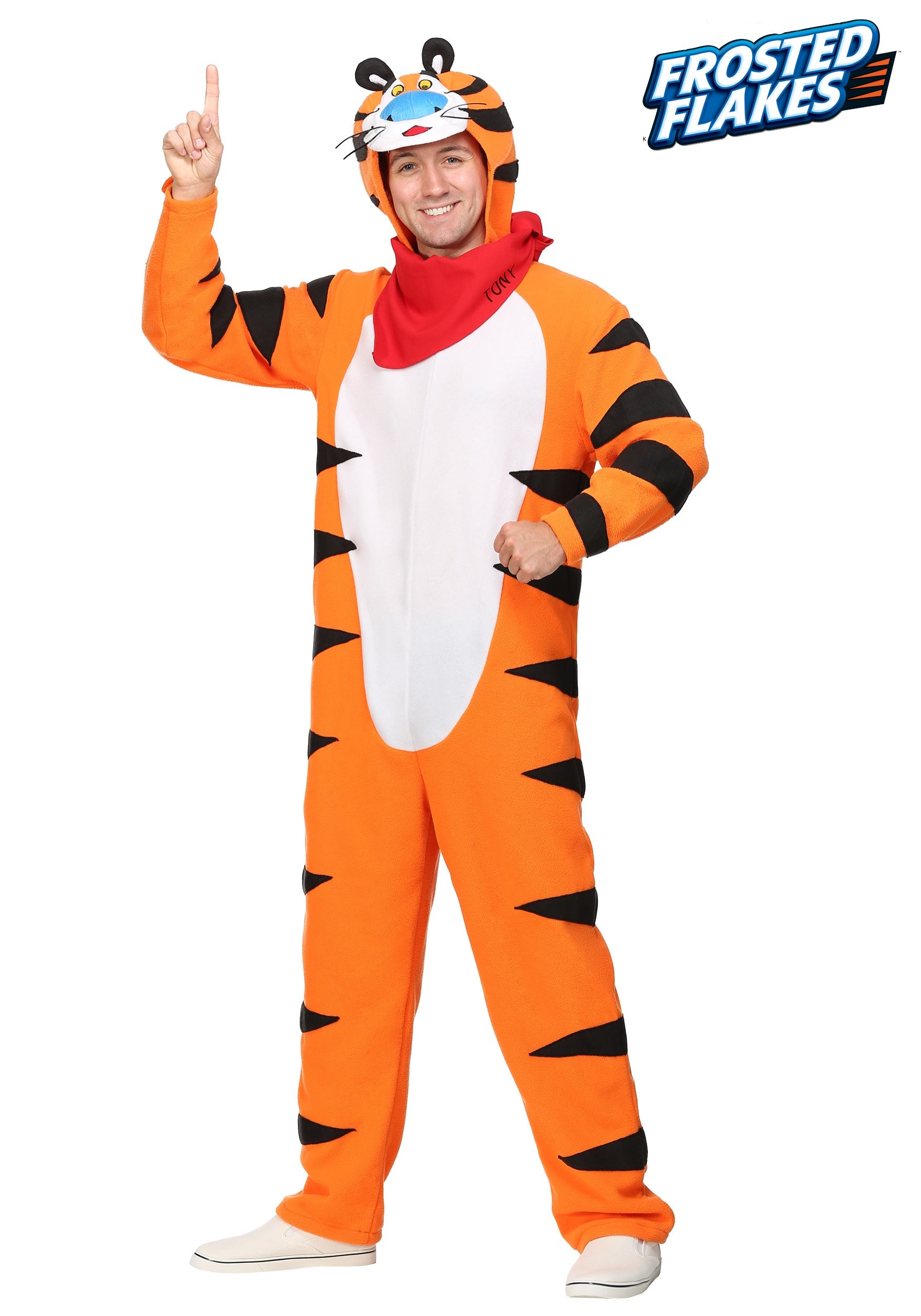 Frosted Flakes Tony the Tiger Plus Size Menu0027s Costume  sc 1 st  Halloween Costumes & Frosted Flakes Tony the Tiger Plus Size Costume for Men 2X