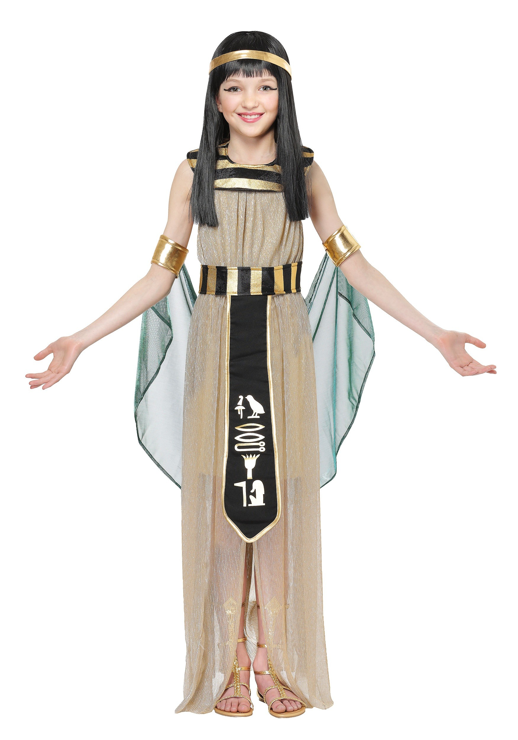 Girls All Powerful Cleopatra  sc 1 st  Halloween Costumes & All Powerful Cleopatra Costume for Girls