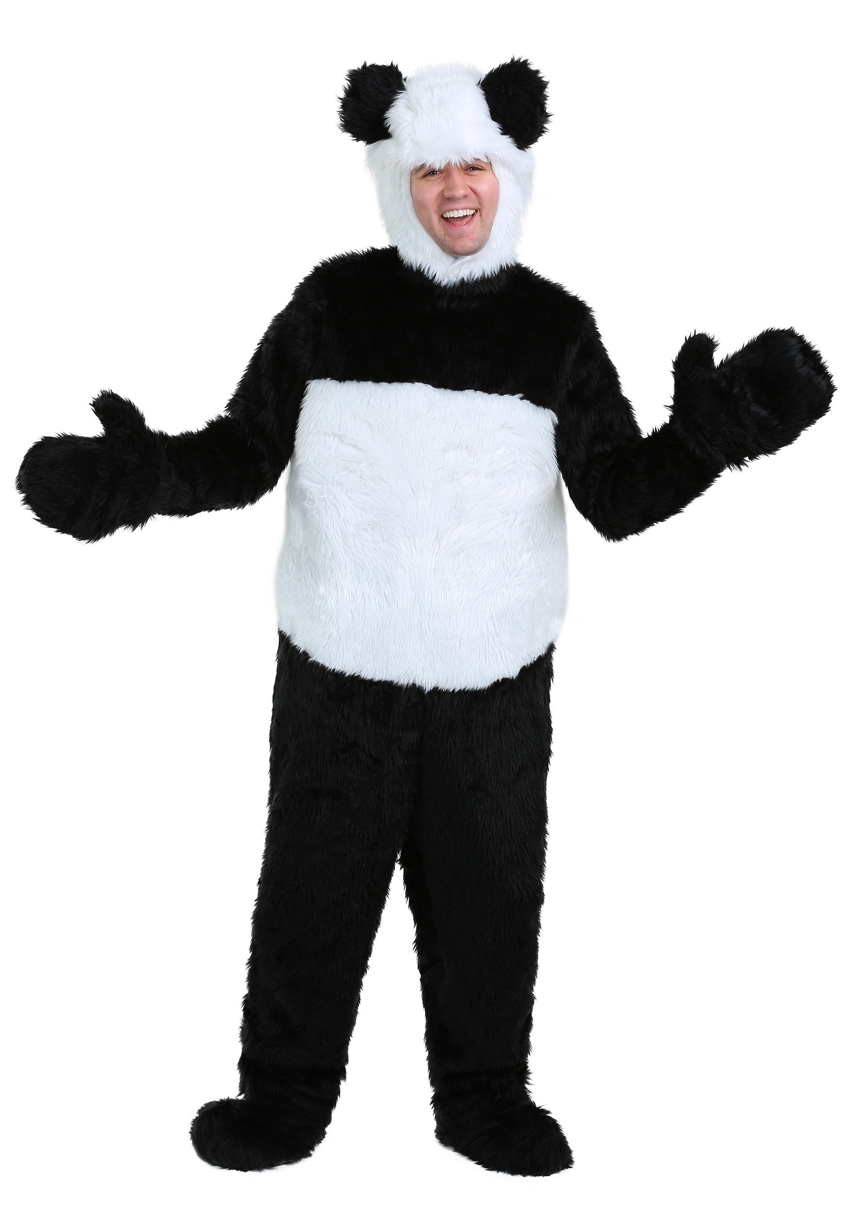 Deluxe Panda Adult Costume  sc 1 st  Halloween Costumes : panda halloween costume men  - Germanpascual.Com