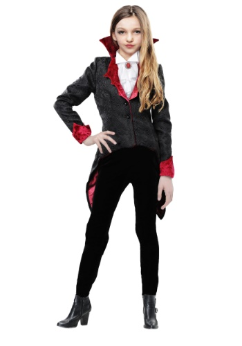 Click Here to buy Girls Dashing Vampiress Costume from HalloweenCostumes, USA Funds & Shipping
