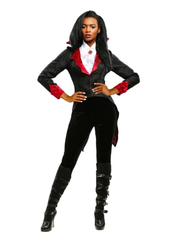 Click Here to buy Womens Dashing Vampiress Costume from HalloweenCostumes, USA Funds & Shipping