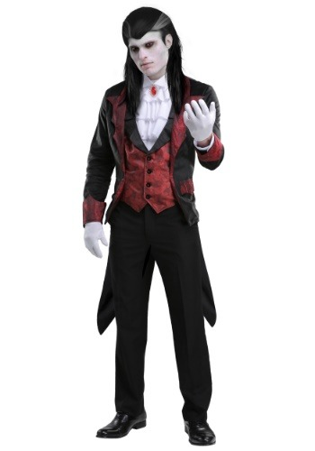 Click Here to buy Dashing Vampire Mens Costume from HalloweenCostumes, USA Funds & Shipping