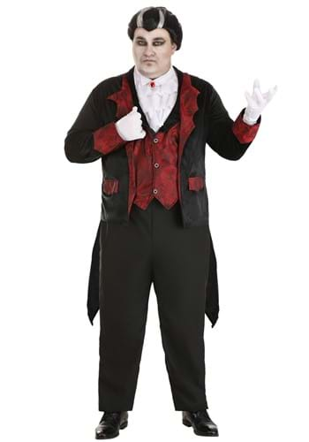 Click Here to buy Dashing Vampire Costume for Plus Size Men from HalloweenCostumes, USA Funds & Shipping