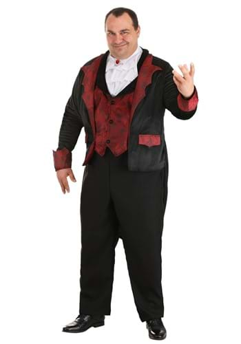 Click Here to buy Dashing Vampire Costume for Plus Size Men 2X 3X from HalloweenCostumes, CDN Funds