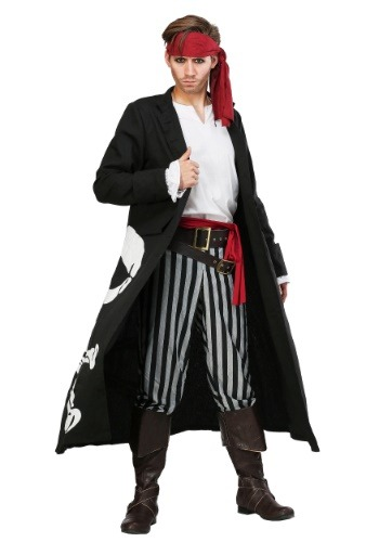 Pirate Flag Captain Plus Size Costume for Men 2X 3X