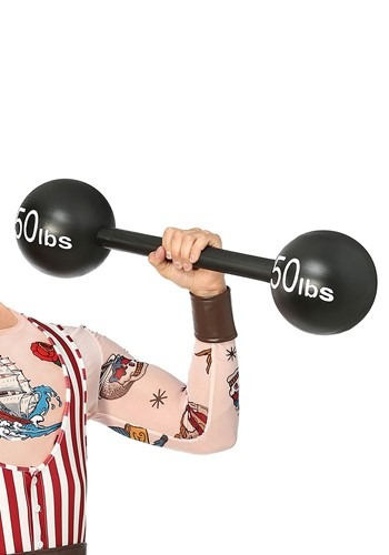 Click Here to buy 100lbs Strongman Barbell Weight from HalloweenCostumes, USA Funds & Shipping