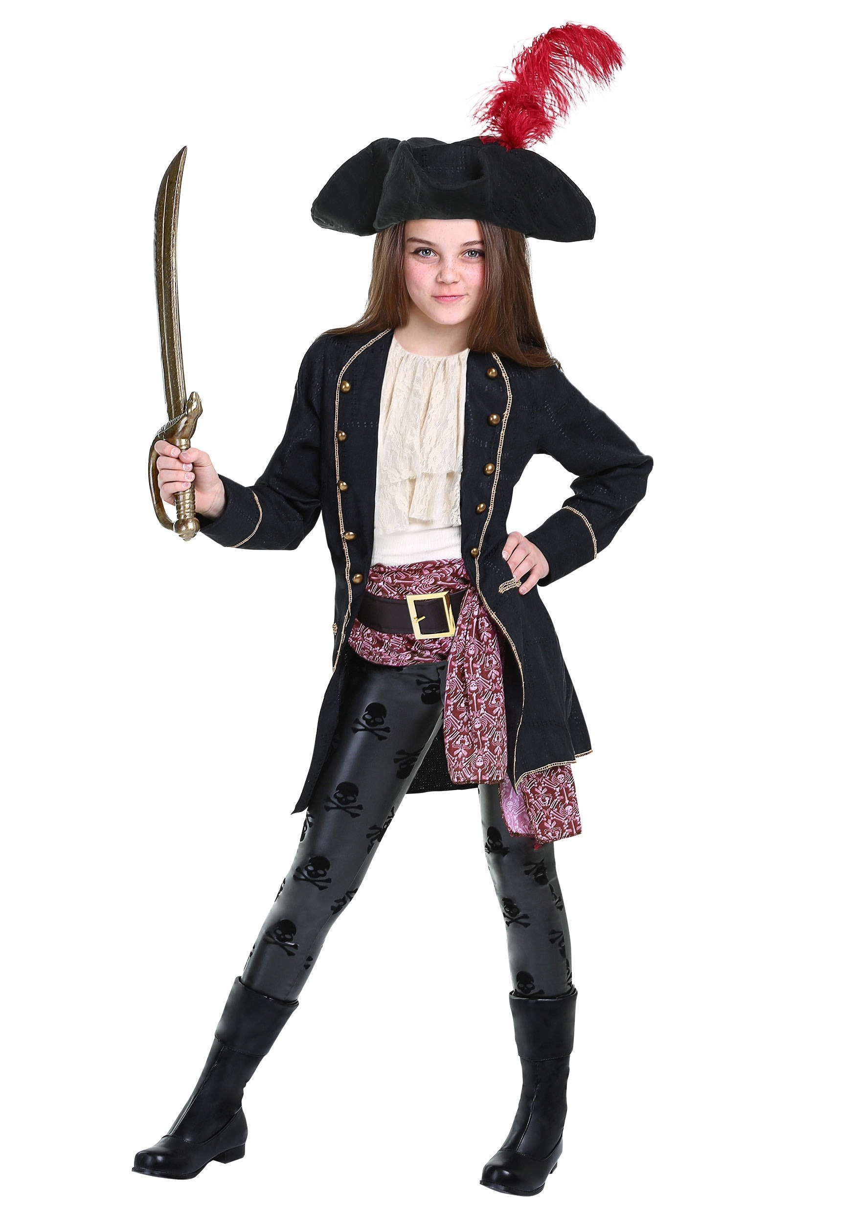Buccaneer costume for girls for Cool halloween costumes for kids girls