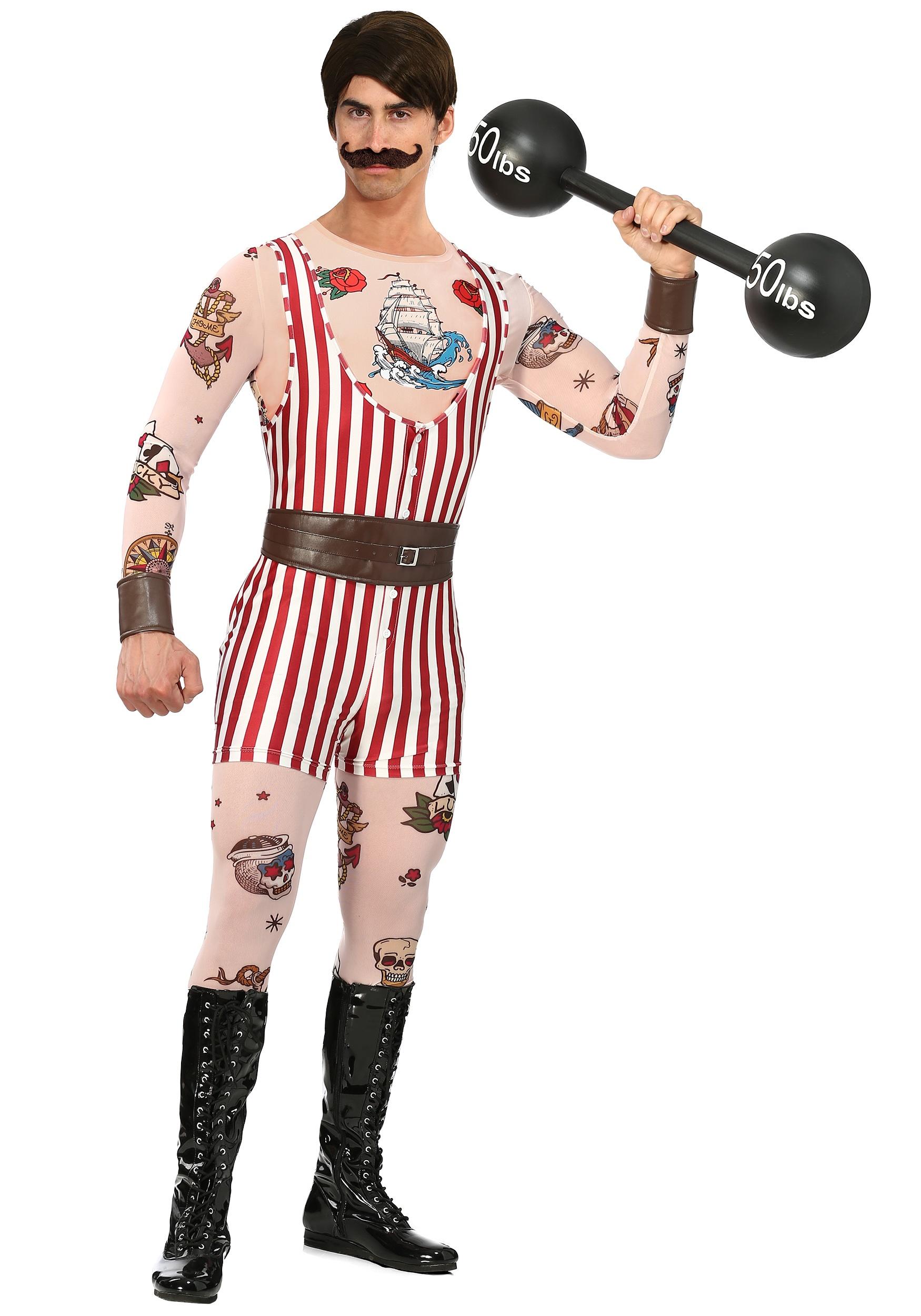 Vintage Strongman Costume for Men