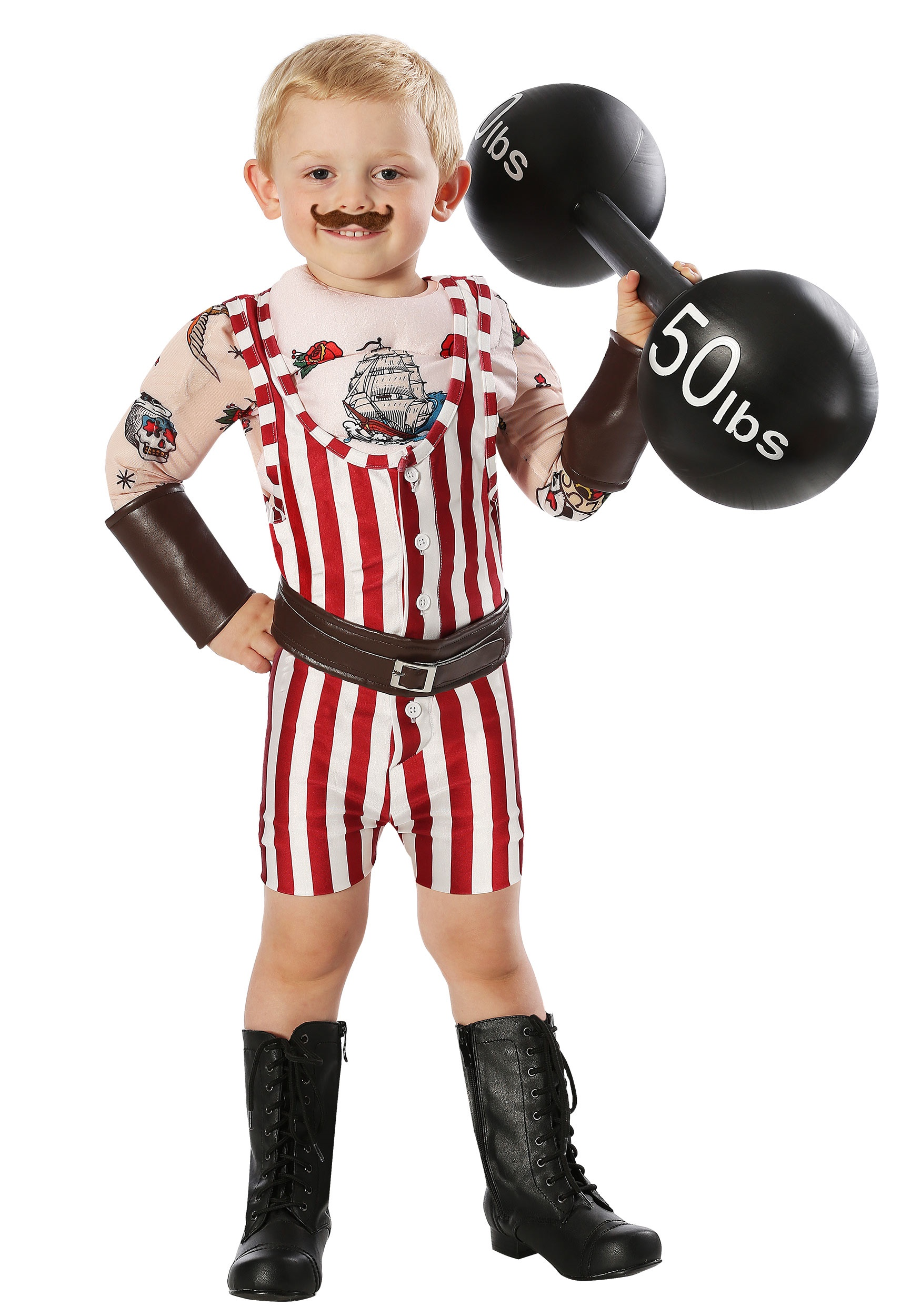 Vintage Strongman Toddler Costume