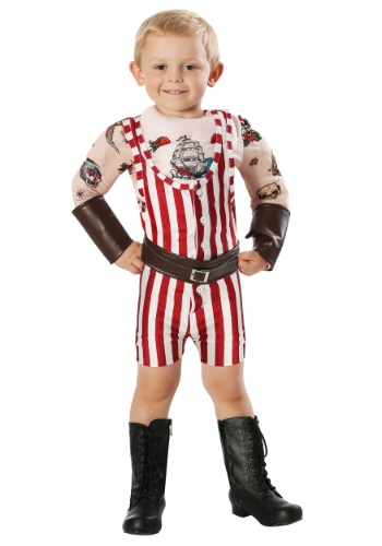 Click Here to buy Vintage Strongman Costume for Toddlers from HalloweenCostumes, CDN Funds