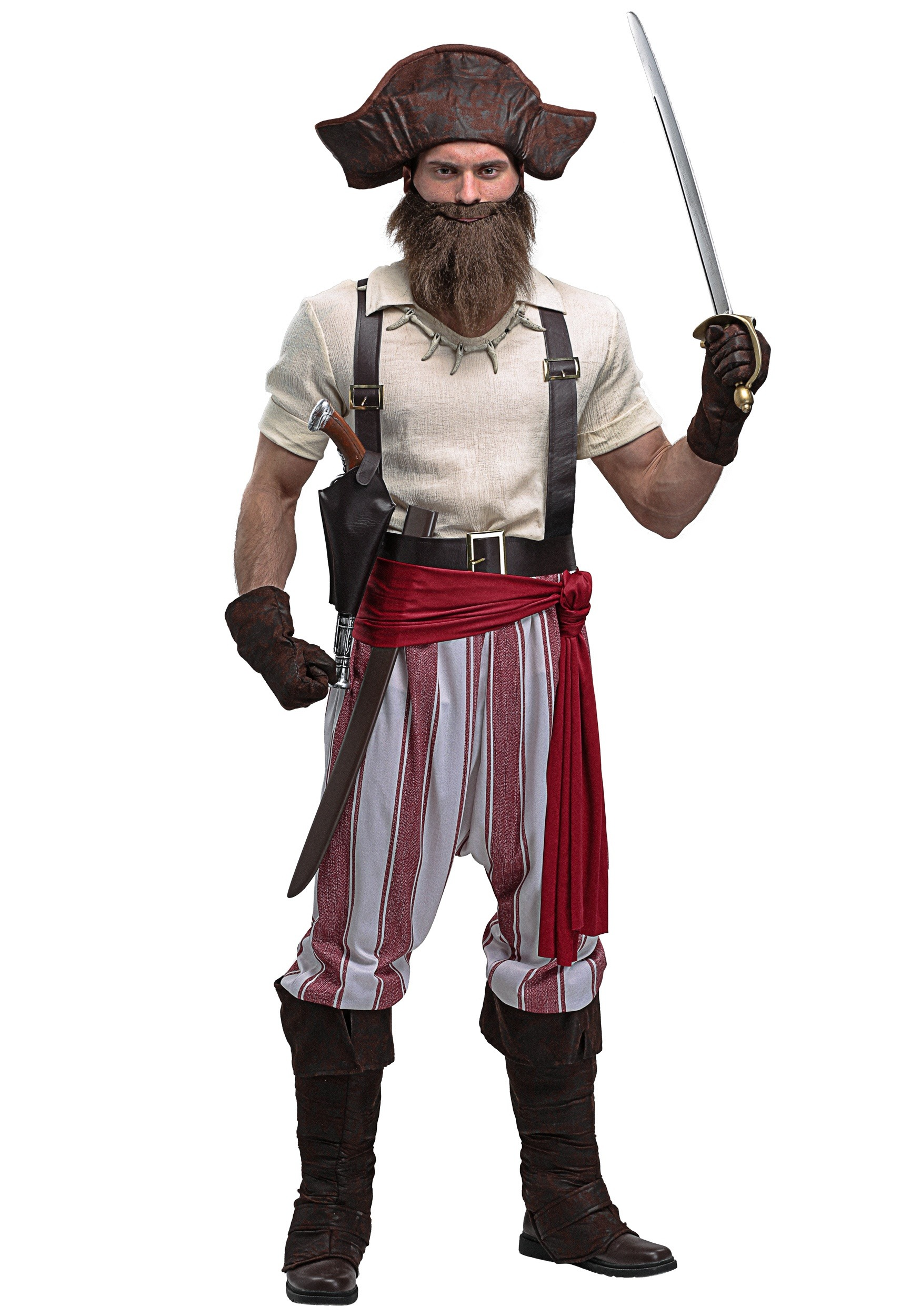 Seven Seas Pirate Plus Size Costume For Men 2x