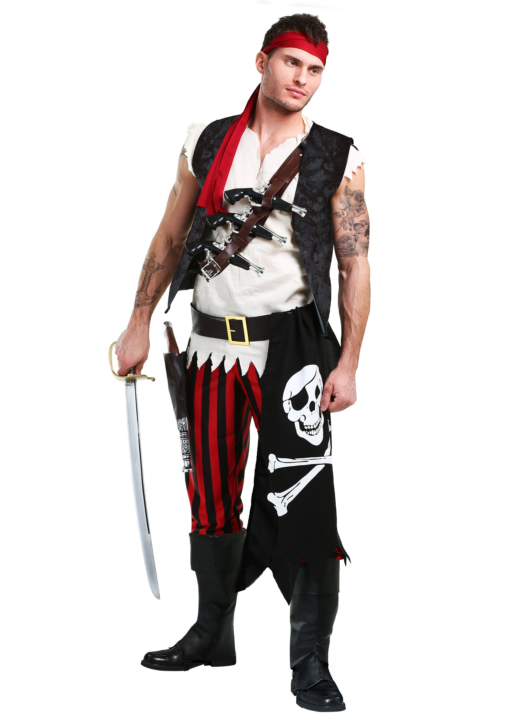 Menu0027s Fighting Deckhand Pirate Costume  sc 1 st  Halloween Costumes & Fighting Deckhand Pirate Costume for Men