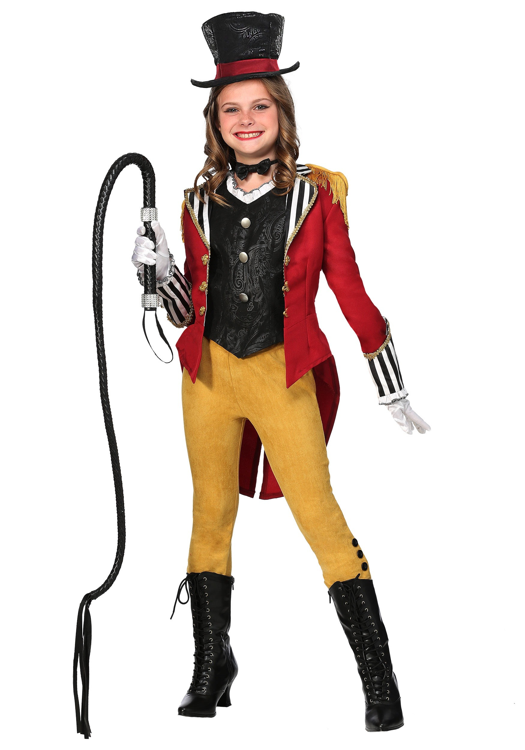 GIRLS RAVISHING RINGMASTER COSTUME Jacket Vest Pants Bow Tie Hat
