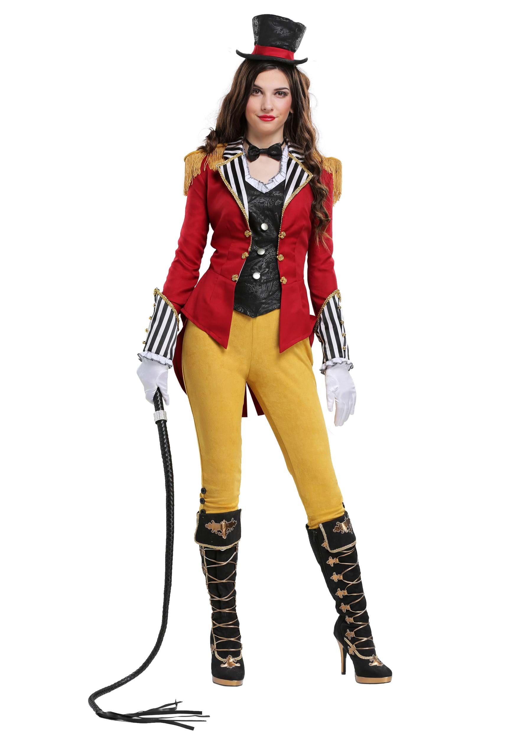 RAVISHING RINGMASTER WOMENS COSTUME Hat w/ 2 pins Bowtie Vest Jacket Pants