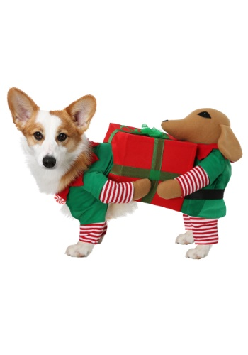 Click Here to buy Santas Little Helper Costume for Dogs from HalloweenCostumes, USA Funds & Shipping