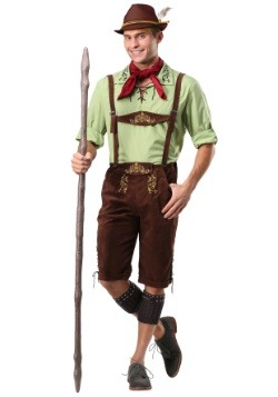 Men's Alpine Lederhosen Costume