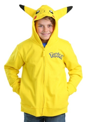 Boys Pokemon Pikachu Costume Hooded Sweatshirt FZMUSB156-6B30