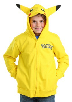 Pokemon Boys Pikachu Costume Hooded Sweatshirt