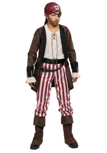 Brown Coat Pirate Boys Costume FUN2232CH