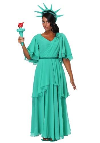Womens Plus Size Statue of Liberty Costume