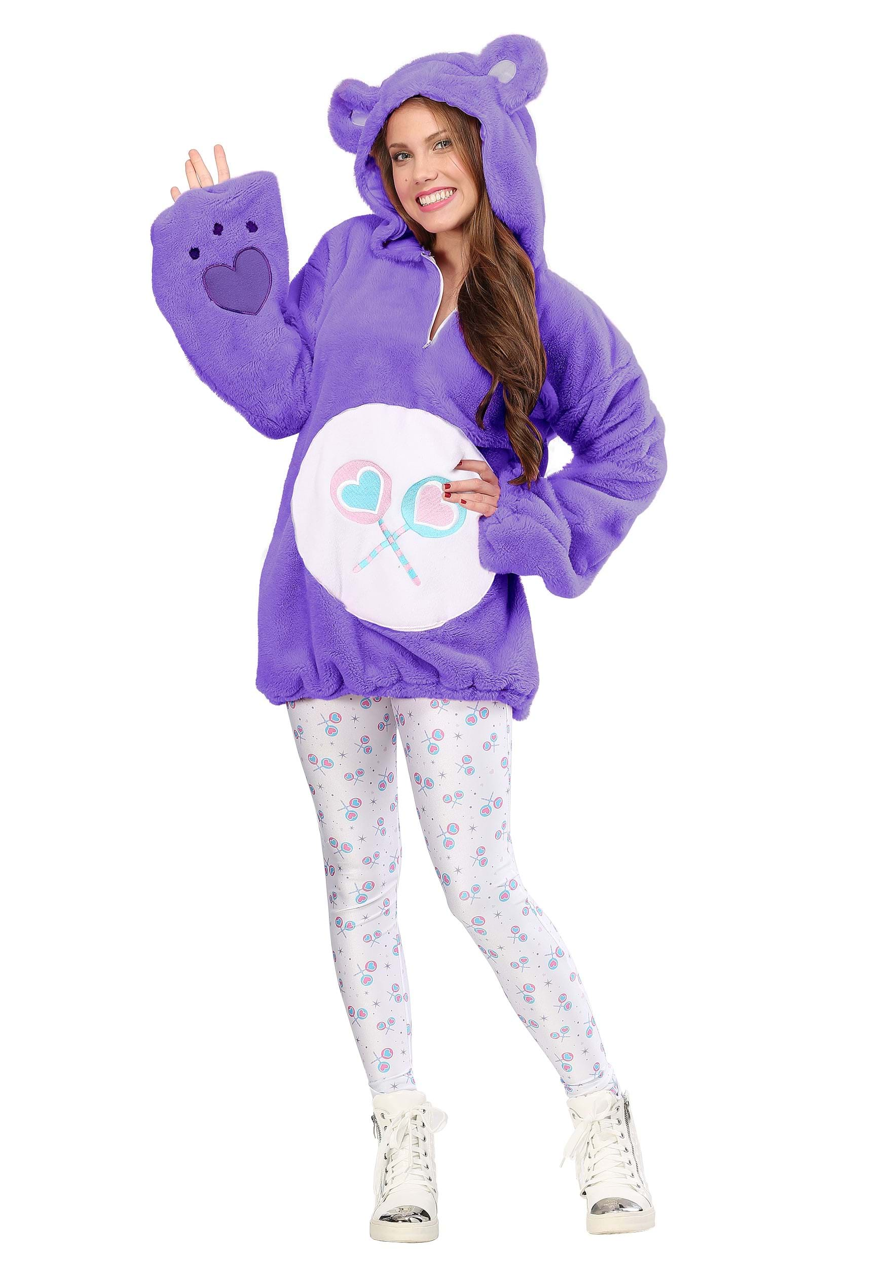 Care Bears Deluxe Share Bear Hoodie Costume for Women