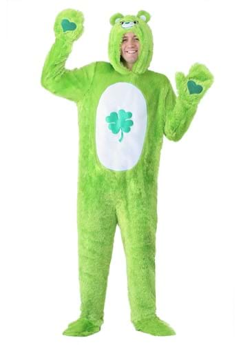 Click Here to buy Care Bears Adult Classic Good Luck Bear Costume from HalloweenCostumes, USA Funds & Shipping