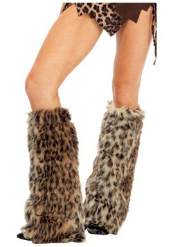 Animal Print Furry Leg Warmers