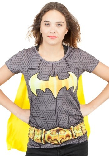 Image of Batman Cape Suit Up Costume T-Shirt for Women