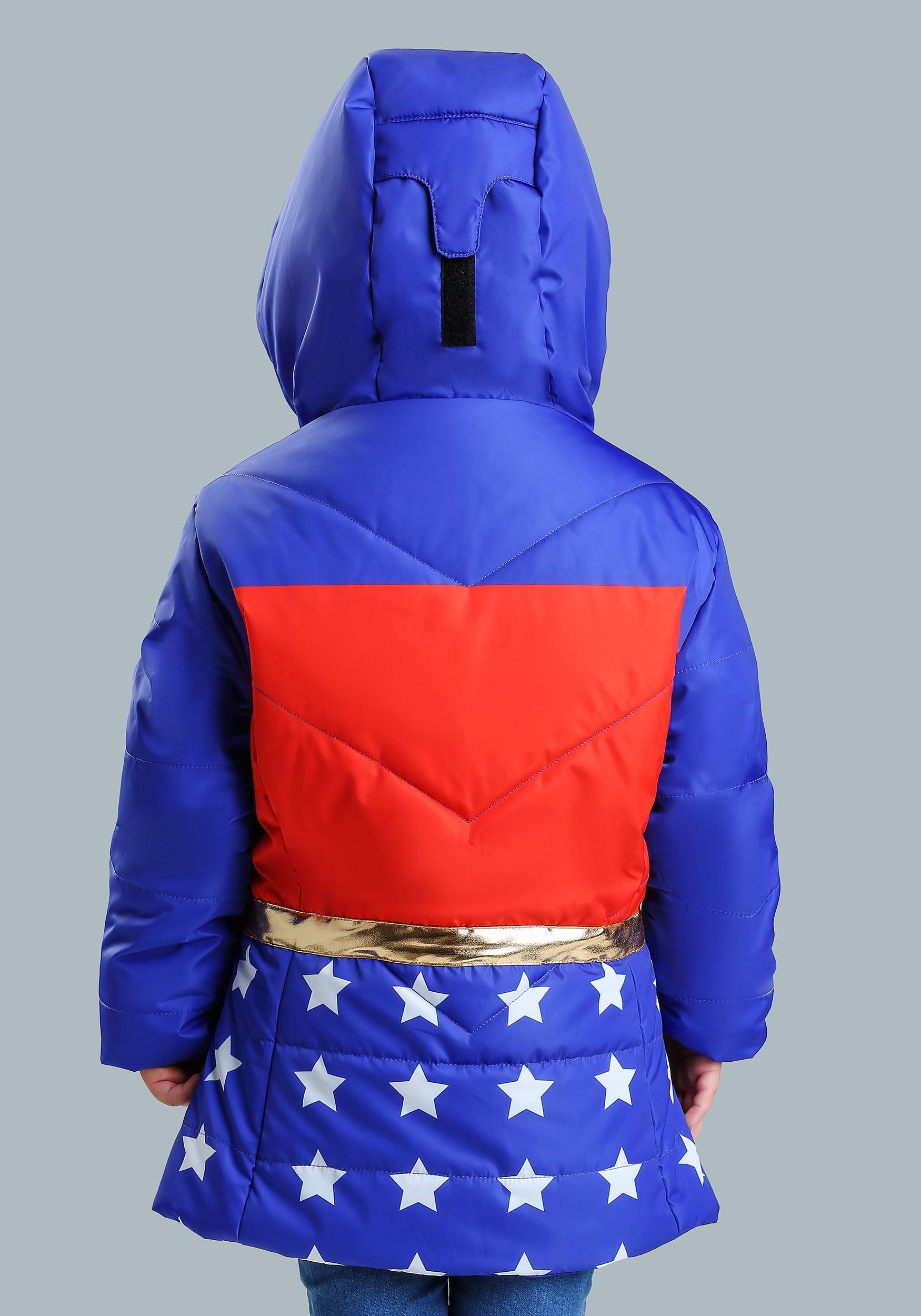 7e986f7dd ... DC Comics Wonder Woman Girls Puffer Coat ...