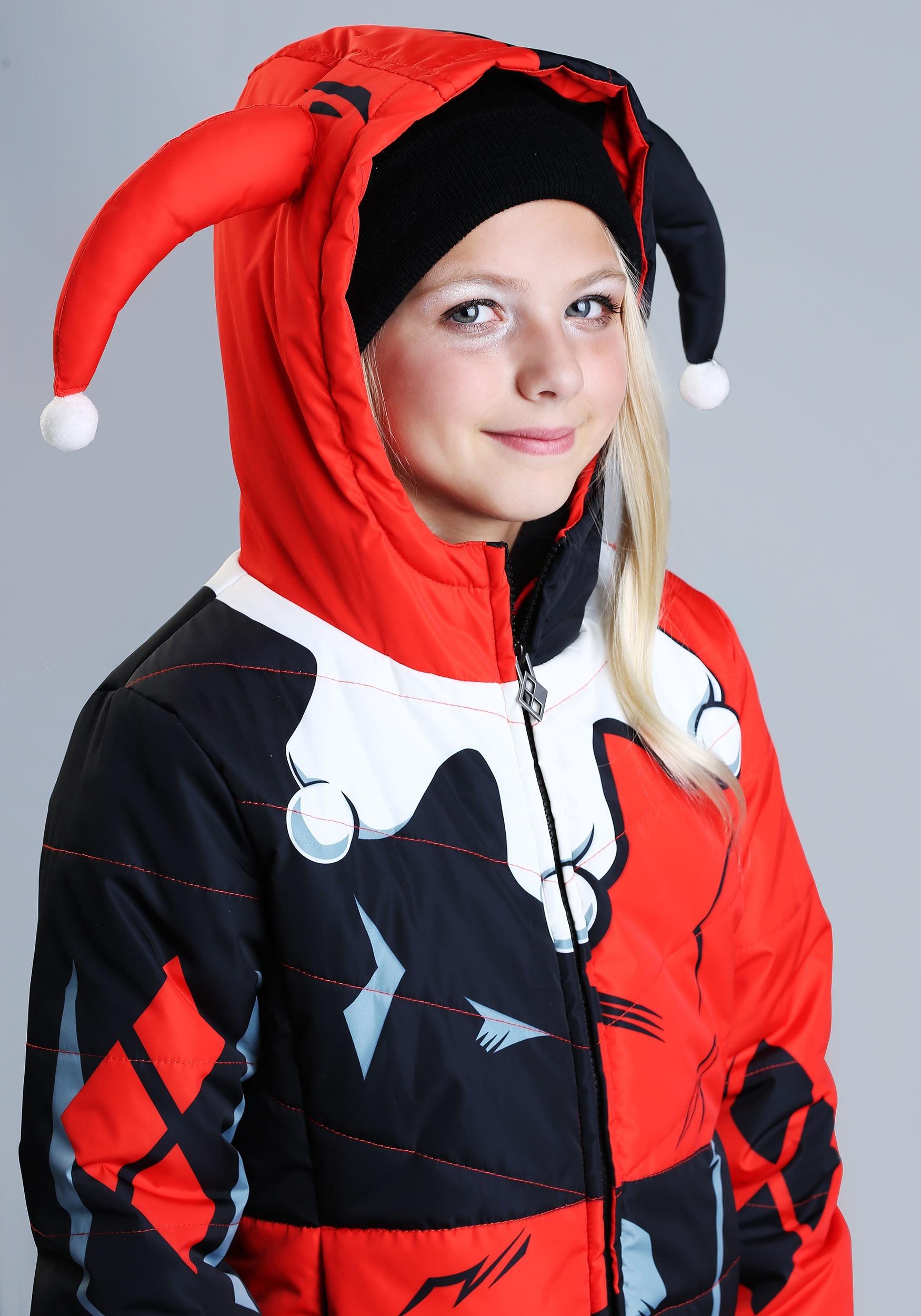 f578f6f45 DC Comics Harley Quinn Puffer Coat for Girls