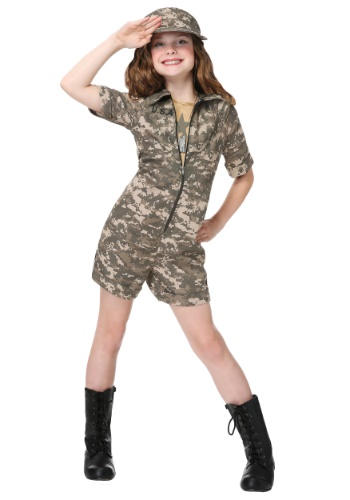 Military Officer Girls Costume