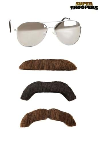 Adult Super Troopers Mustache and Sunglasses Kit new
