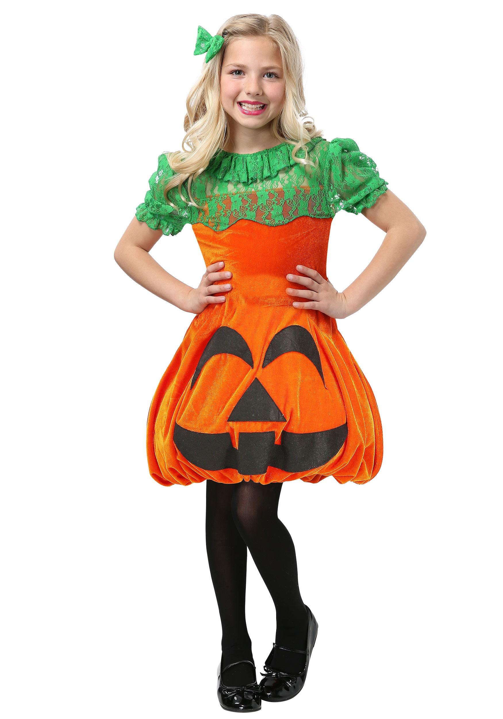 Pretty Pumpkin Costume for Girls