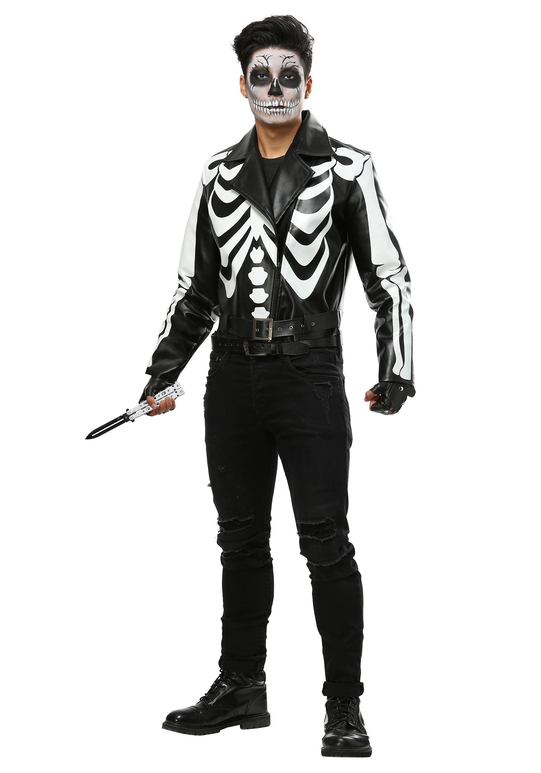 Skull Hooded Mask Bones Skeleton Disappearing Man Halloween Costume Accessory