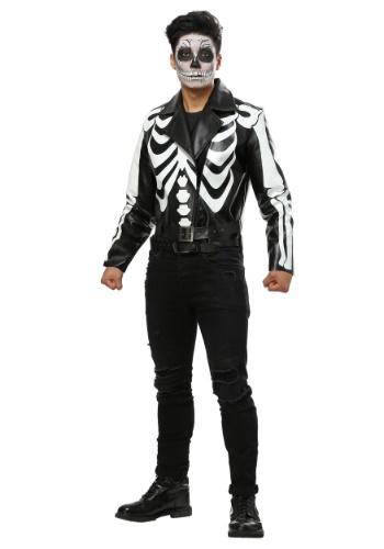 Moto Jacket Skeleton Mens Costume