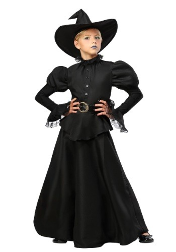Classic Black Witch Costume for Girls