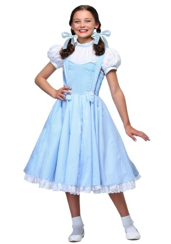 Click Here to buy Deluxe Kansas Girl Kids Costume from HalloweenCostumes, CDN Funds