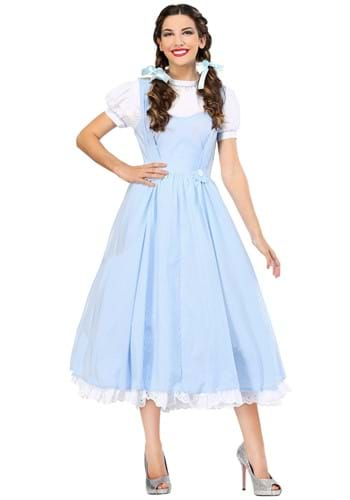 Click Here to buy Kansas Girl Deluxe Womens Costume from HalloweenCostumes, CDN Funds