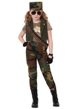 girls military commander costume