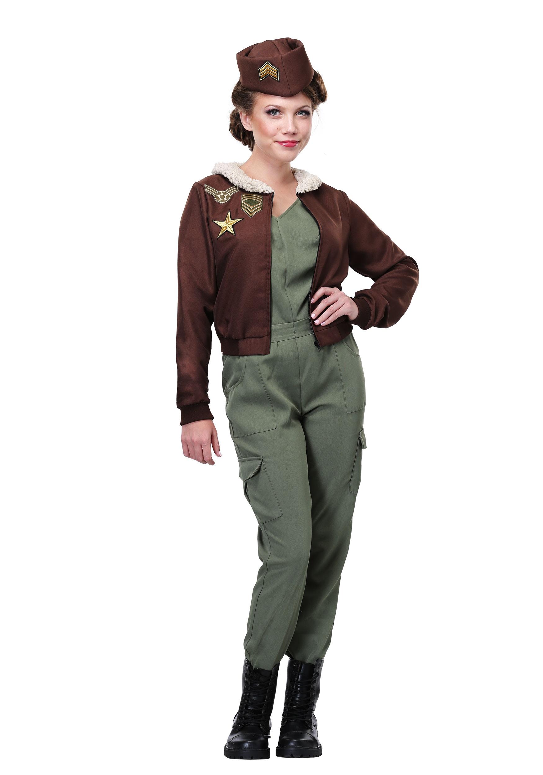 Vintage Flight Officer Plus Size Costume for Women 1X 2X