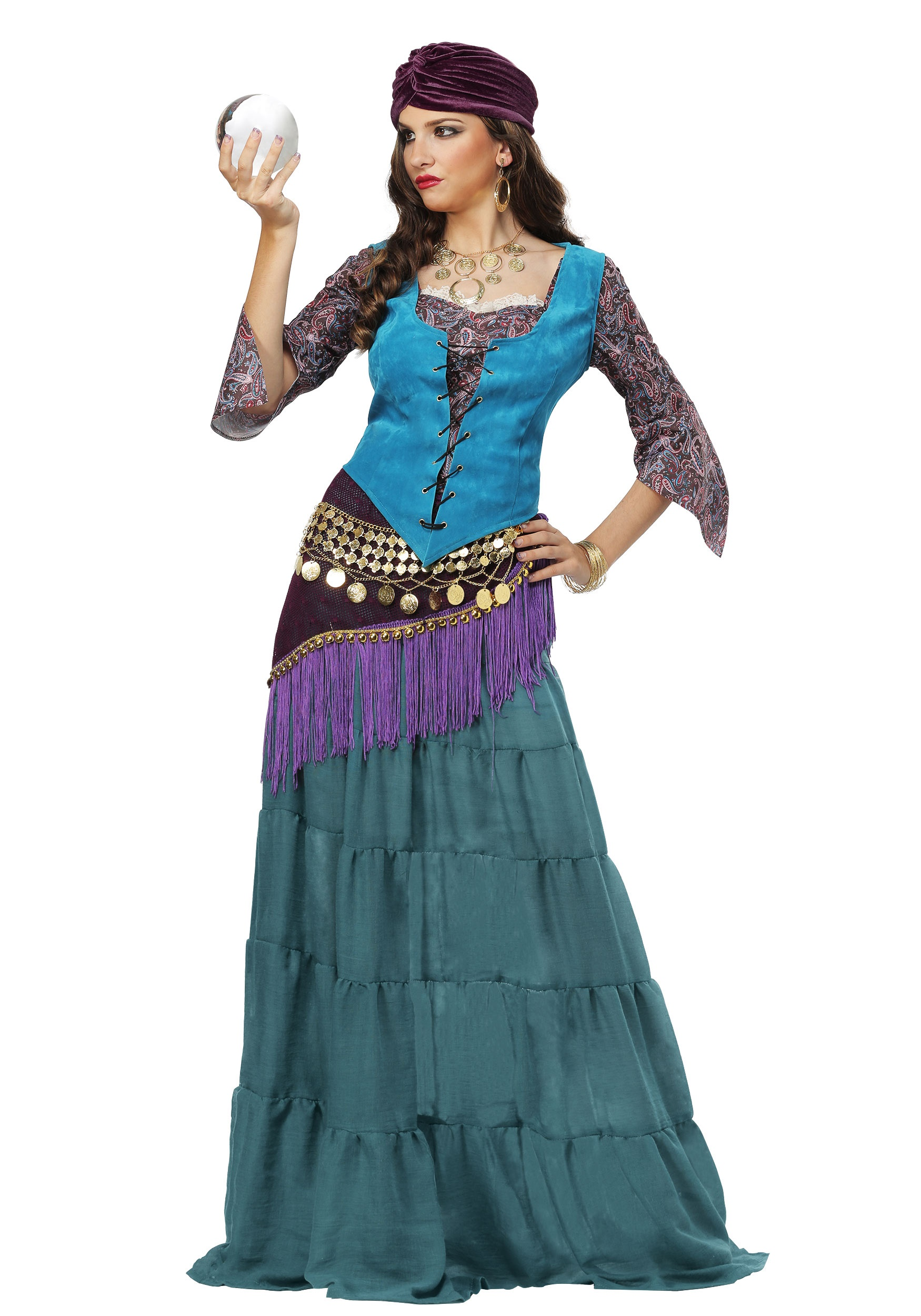 Fortune Teller Booth Halloween Craft: Fabulous Fortune Teller Gypsy Costume For Women