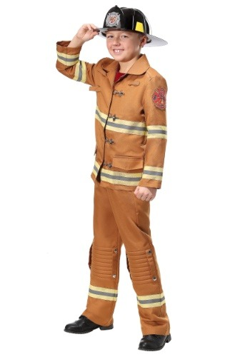 Click Here to buy Firefighter Tan Uniform Kids Costume from HalloweenCostumes, CDN Funds