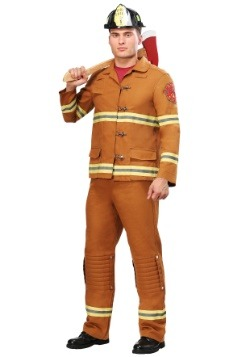 Tan Firefighter Uniform Mens Costume