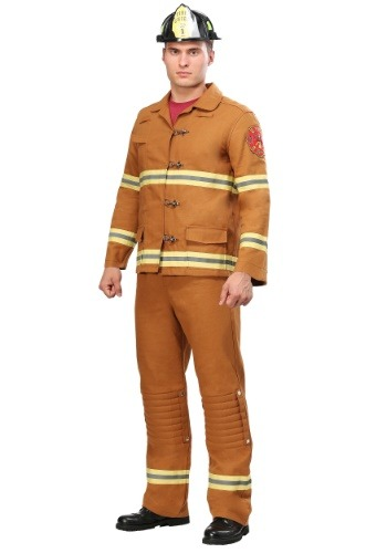 Click Here to buy Tan Firefighter Uniform Mens Costume from HalloweenCostumes, CDN Funds