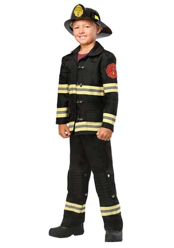 Click Here to buy Black Uniform Firefighter Kids Costume from HalloweenCostumes, CDN Funds