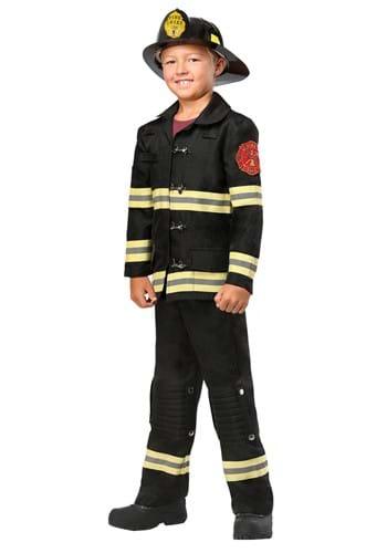 Kids Black Uniform Firefighter Costume